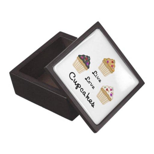 Cupcakes Live Love Premium Trinket Box