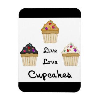Cupcakes Live Love Rectangular Photo Magnet