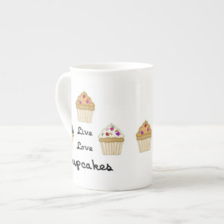 Cupcakes Live Love Porcelain Mug