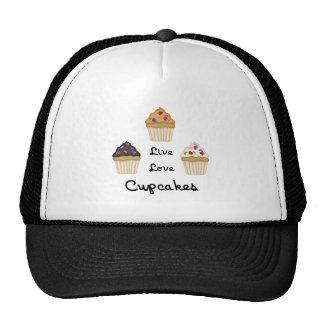 Cupcakes Live Love Trucker Hats