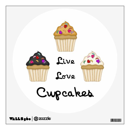 Cupcakes Live Love Wall Decal