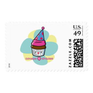 Cupcakes Love Birthdays Stamps