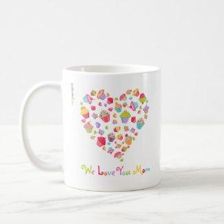 Cupcakes Love Mom Mug mug