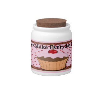 Cupcakes Make Everyday Brighter Candy Jar