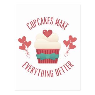 Cupcakes Make Everything Better Postcard
