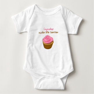 Cupcakes Make Life Better Baby Bodysuit
