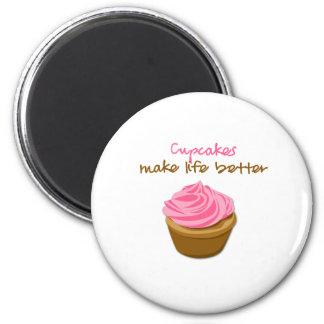 Cupcakes Make Life Better Magnet