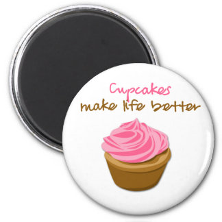 Cupcakes Make Life Better Magnet