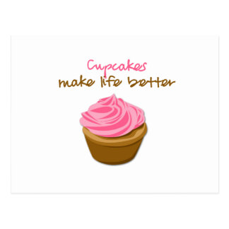 Cupcakes Make Life Better Postcard