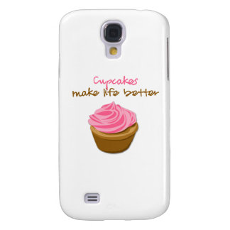 Cupcakes Make Life Better Samsung Galaxy S4 Case