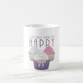Cupcakes Make Me Happy Coffee Mugs