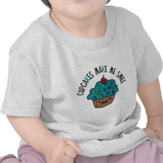 Cupcakes Make Me Smile Tee Shirt