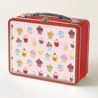 Cupcakes Metal Lunch Box