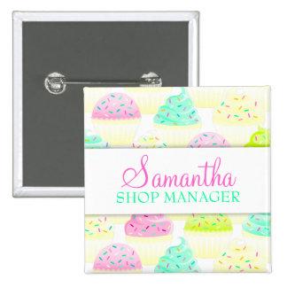 Cupcakes N Sprinkles Custom Name Badge Pin