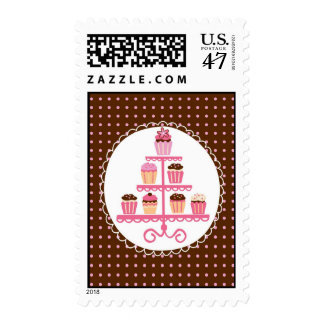 Cupcakes on a Stand Postage