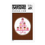 Cupcakes on a Stand Postage Stamp