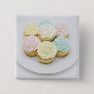 Cupcakes on White Plate Pinback Button