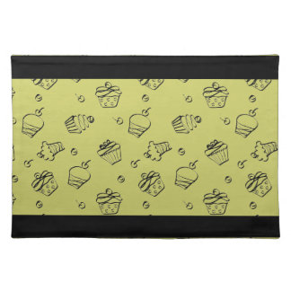 Cupcakes Outline American MoJo Placemat Cloth Place Mat