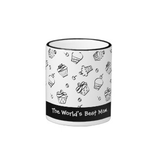 Cupcakes Outlines Coffee Mug