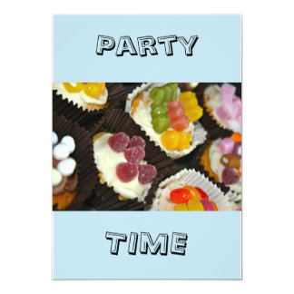 Cupcakes Party Time Invitation