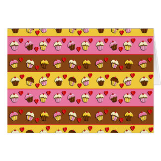 Cupcakes pattern card