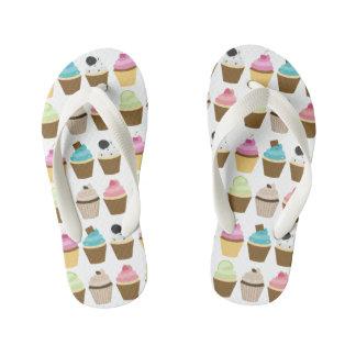 Cupcakes Pattern Kid's Flip Flops