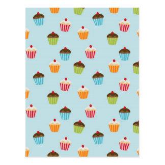 cupcakes pattern postcard