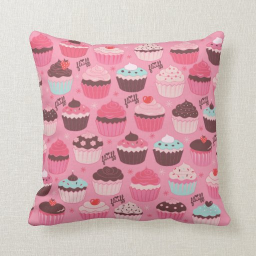 Cupcakes Pillow by Fluff