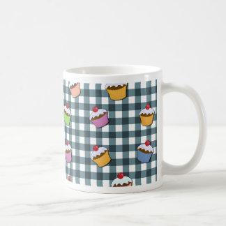 Cupcakes plaid pattern coffee mug