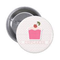 Cupcakes & Polka Dots Button