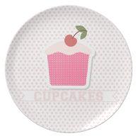 Cupcakes & Polka Dots Plate