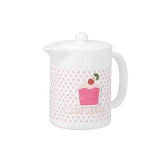 Cupcakes & Polka Dots Teapot