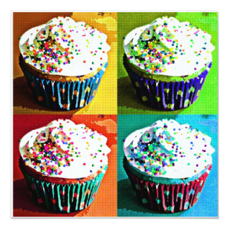 Cupcakes Pop Art Invitations