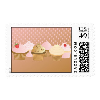 Cupcakes Postage Stamp