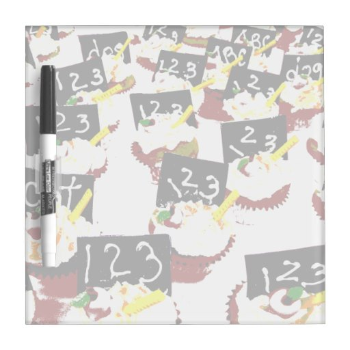 Cupcakes school clear background Dry-Erase board