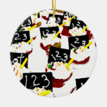 Cupcakes school clear background ornament