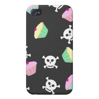 Cupcakes & Skulls Emo Kawaii Pern Case For iPhone 4