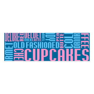 cupcakes (small chat) Double-Sided mini business cards (Pack of 20)
