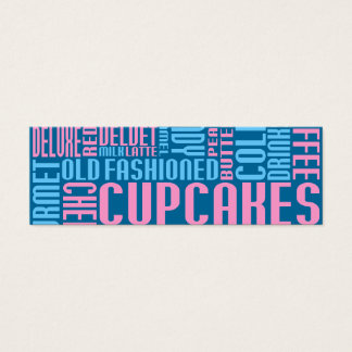 cupcakes (small chat) mini business card