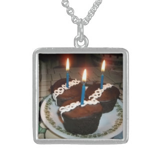 Cupcakes Sterling Silver Necklace