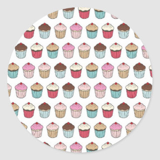 Cupcakes Round Sticker