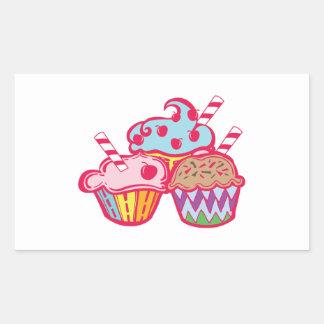 Cupcakes Rectangle Sticker