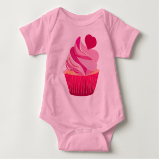 CUPCAKES,SWEETHEART,PINK,HEART BABY BODYSUIT