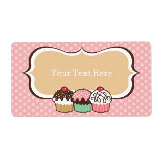 Cupcakes Trio Bookplates Labels