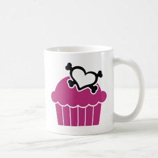 Cupcakes w Heart Crossbones Coffee Mugs