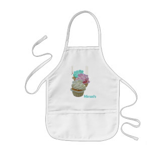Cupcakes with Bling! Kids' Apron