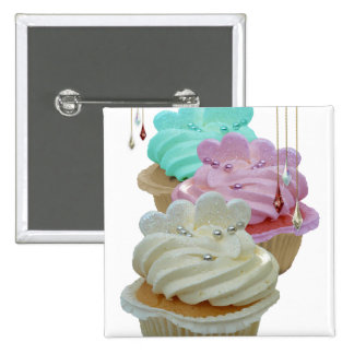 Cupcakes with Bling! Pinback Button