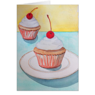 Cupcakes with Cherry on Top Card