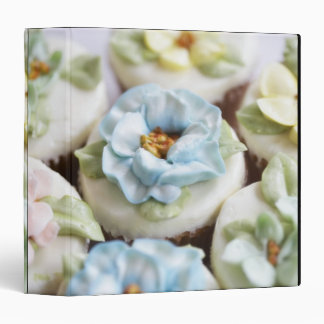 Cupcakes with flower icing binder