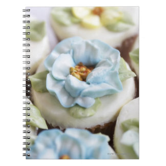 Cupcakes with flower icing notebook
